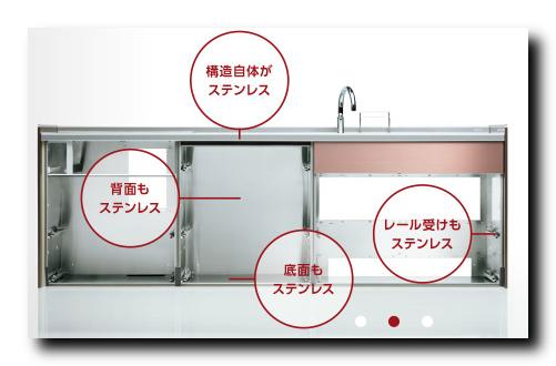 オールステンレスキッチン画像